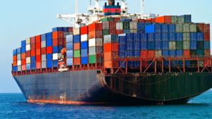 Shipping Containers on Ship